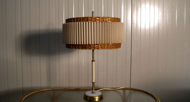 Lovely DDR Vintage Table Lamp, 1950s 1