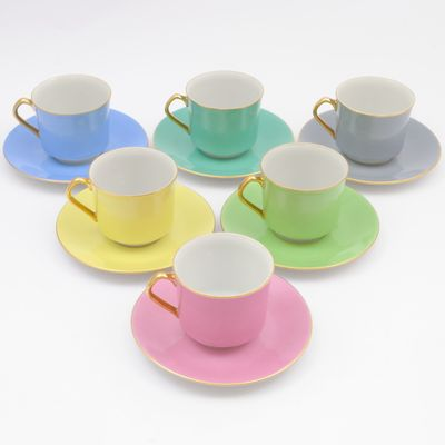 Porcelain Coffee Cups From Epiag 1960s Set Of 6 1