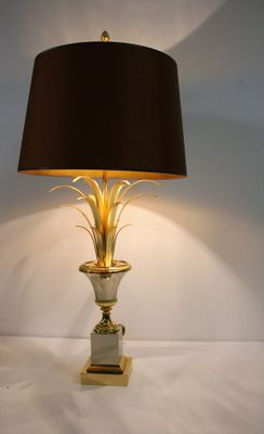 Brass pineapple leaf table lamp from boulanger 1960s for sale at pamono brass pineapple leaf table lamp from boulanger 1960s 6 aloadofball