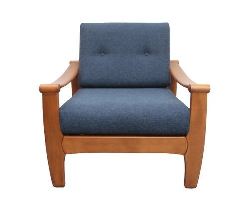 Dark Blue Armchair, 1960s 2