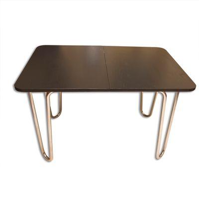 Esstisch Bauhaus klappbarer bauhaus esstisch aus eiche verchromtem metall