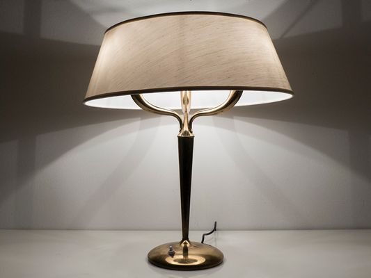Large brass table lamp by emilio lancia 1940s for sale at pamono large brass table lamp by emilio lancia 1940s 2 aloadofball Choice Image