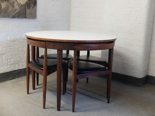Mid Century Roundette 630 Dining Table U0026 Chairs By Hans Olsen For Frem  Røjle,