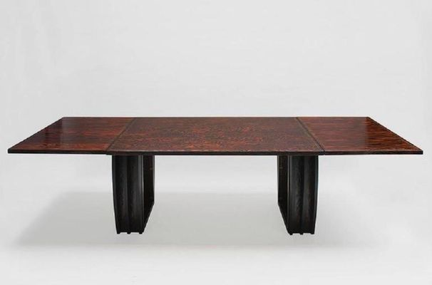 Oregon Pine Dining Room Table From André Sornay, ...
