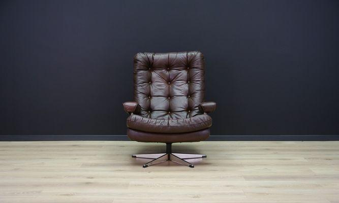Mid Century Danish Leather Armchair 1
