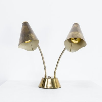 Brass metal double switch table lamp 1960s for sale at pamono brass metal double switch table lamp aloadofball Choice Image
