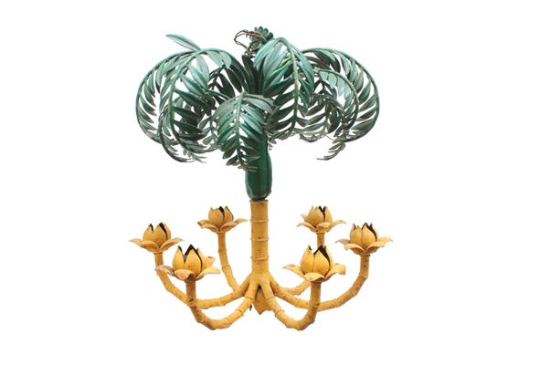 French palm tree chandelier 1930s for sale at pamono french palm tree chandelier 1930s 1 aloadofball Images