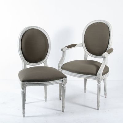 Great French Louis XVI Style Dining Chairs, 1880s, Set Of 6 1 Gallery