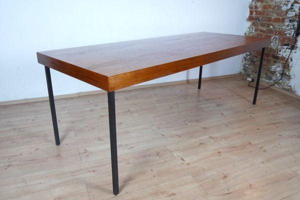 Tavolo da pranzo grande in teak, anni \'50 in vendita su Pamono