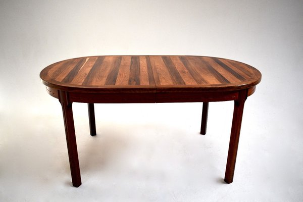 Rosewood Oval Dining Table By Nils Jonsson For Hugo Troeds, 1960s 1