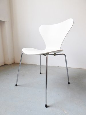 3107 Chairs By Arne Jacobsen For Fritz Hansen, 1984, Set Of 4 1