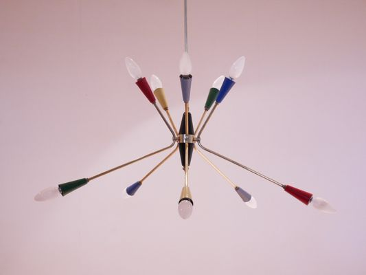 Italian multi colored sputnik chandelier 1950s for sale at pamono italian multi colored sputnik chandelier 1950s 1 aloadofball Choice Image