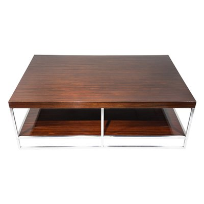 Vintage Macassar Ebony Coffee Table From Minotti, 1970s 1