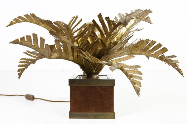 Hollywood Regency Palm Tree Table Lamp By Maison Jansen, 1970s 1