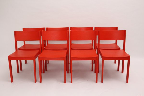 Mid Century Modern Red Dining Room Chairs By Carl Auböck For E U0026 A Pollack