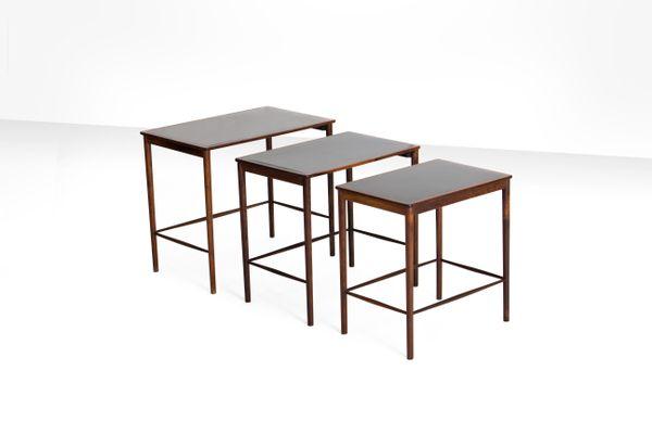 Rosewood Nesting Tables By Grete Jalk For Poul Jeppesens Møbelfabrik, 1960s  2