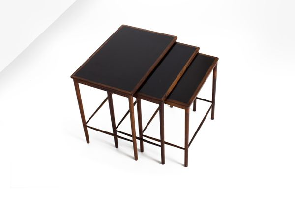 Rosewood Nesting Tables By Grete Jalk For Poul Jeppesens Møbelfabrik, 1960s  3