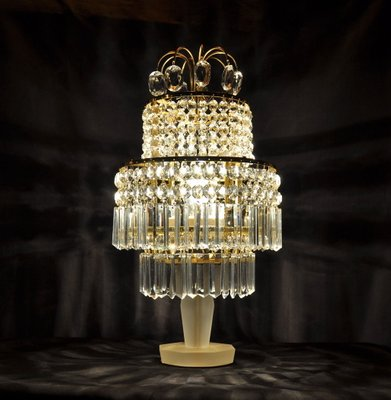 lamp crystal lavish table lamps home lg cream