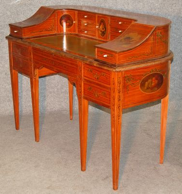 Antique English Carlton House Desk From Maple Et Compagny 2