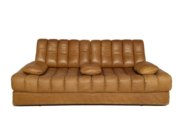 DS 85 Cognac Leather Sofa Bed From De Sede, 1971 1