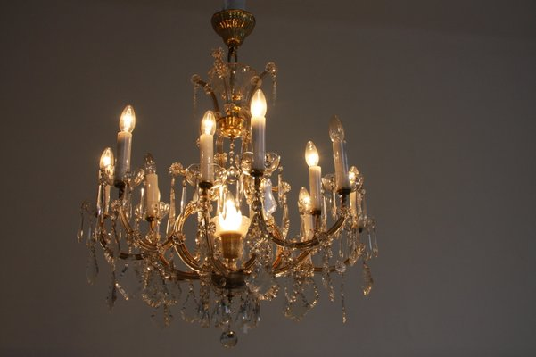 Antique crystal chandelier for sale at pamono antique crystal chandelier 2 mozeypictures Image collections