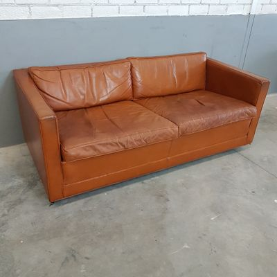 Cognac Leather Sofa By Pierre Paulin For Artifort, 1960s 5