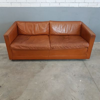 Cognac Leather Sofa By Pierre Paulin For Artifort, 1960s 1