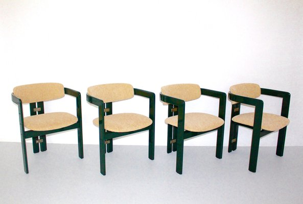 Italian Dining Room Chairs by Augusto Savini for Pozzi, 1960s, Set ...
