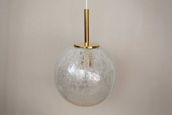spherical lighting. Spherical Lamp From Doria With Ice Glass Diffuser And Brass Details, 1960s 5 Lighting