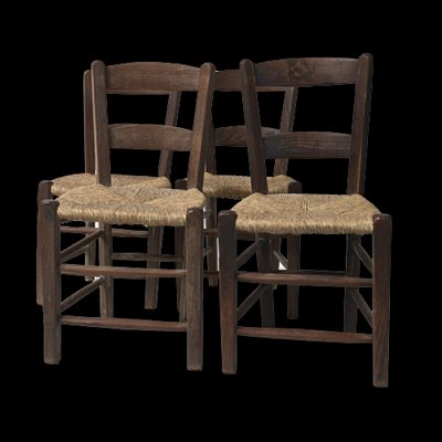 Antique Ladder Back Chairs, 1890s, Set of 4 2 - Antique Ladder Back Chairs, 1890s, Set Of 4 For Sale At Pamono