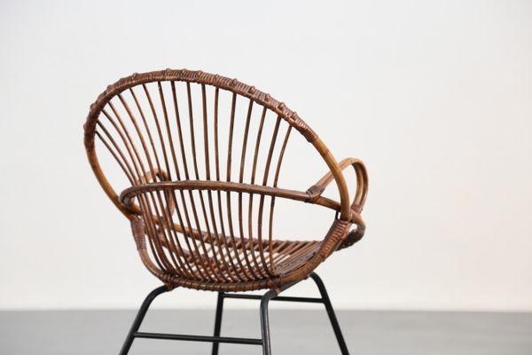 Wicker Armchair, 1960s 10