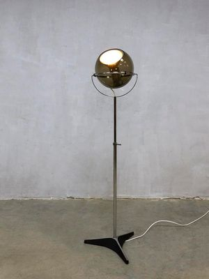 Vintage Dutch Globe Floor Lamp By Frank Ligtelijn For Raak 2
