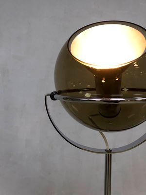 Vintage Dutch Globe Floor Lamp By Frank Ligtelijn For Raak 3