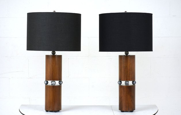 Mid Century Modern Table Lamps, Set Of 2 1