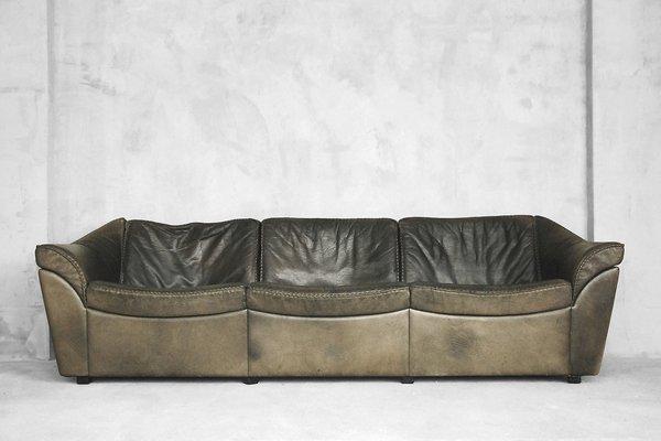 Divano vintage in pelle di bisonte di Berg Furniture, Danimarca ...
