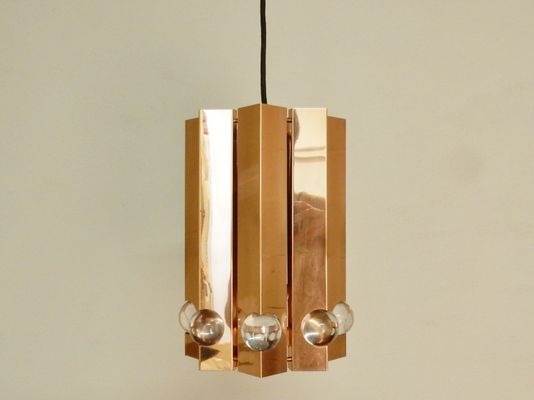 Polished Copper Pendant Light By Gebruder Cosack 1960s 1