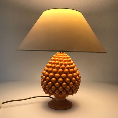 Vintage Pineapple Ceramic Table Lamp, 1970s 2