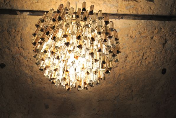 Vintage Tribodo Murano Glass Chandelier By Paolo Venini 2