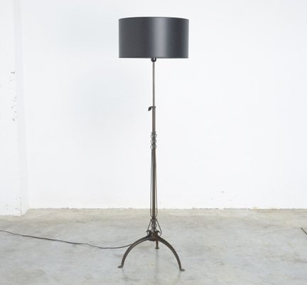 Antique black wrought iron floor lamp for sale at pamono antique black wrought iron floor lamp 1 mozeypictures Images