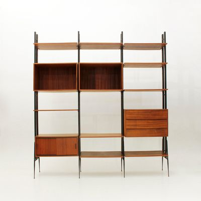 Vintage Italian Teak Wall Unit by Fraber Mobili, 1950s for sale at ...