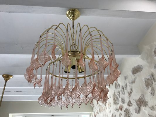 Pink Glass Chandelier Floral pink murano glass chandelier 1970s for sale at pamono floral pink murano glass chandelier 1970s 1 audiocablefo