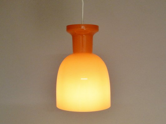 Vintage Dutch Mandarin Orange Glass Lamps From RAAK 1970s Set Of 3 2