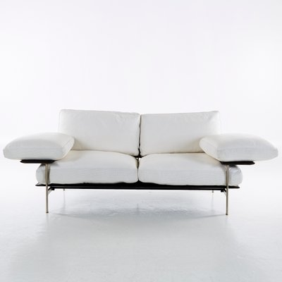 white vintage couch. Vintage Diesis Sofa In White Leather By Antonio Citterio \u0026 Paolo Nava For B\u0026B Couch C