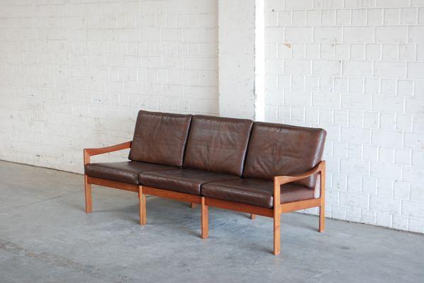 Vintage Leather Sofa By Illum Wikkelsø For Eilersen 2