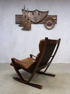 Vintage Scandinavian Rocking Loung Chair By Ingmar Relling For Westnofa 3