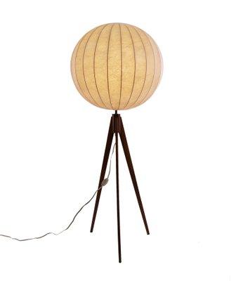 Danish modern floor lamp on tripod teak base for sale at pamono danish modern floor lamp on tripod teak base 1 mozeypictures Gallery