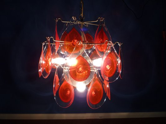 Vintage Italian Murano Glass Disc Ceiling Light By Gino Vistosi 1960s 2