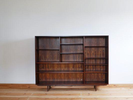Mid Century Danish Rosewood Veneer Bookcase By Omann Jun 1960s 1
