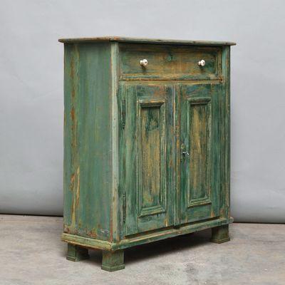 Mobiletto vintage in legno di pino, anni \'30 in vendita su Pamono