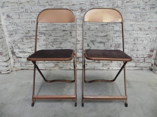 Mid Century Steel Folding Chairs From Cooey, Set Of 2 1
